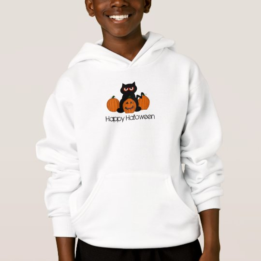Spoooky Kitty Kids Hooded Sweatshirt