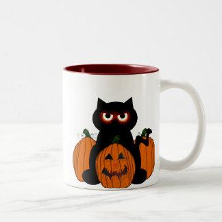 Spoooky Kitty Two-Tone Coffee Mug