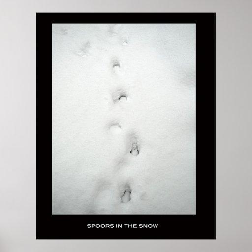 spoors en la nieve posters