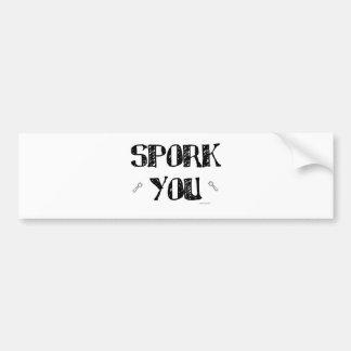 Spork You Car Bumper Sticker
