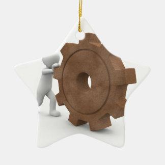 sport-101-eop adorno navideño de cerámica en forma de estrella