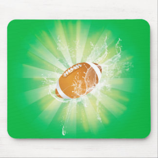 Sport, american football with water splash mouse pads