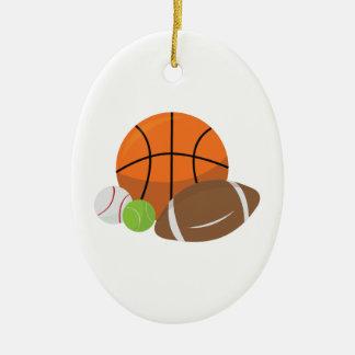 Sport Balls Ceramic Ornament