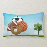 Sport Balls Throw Pillow