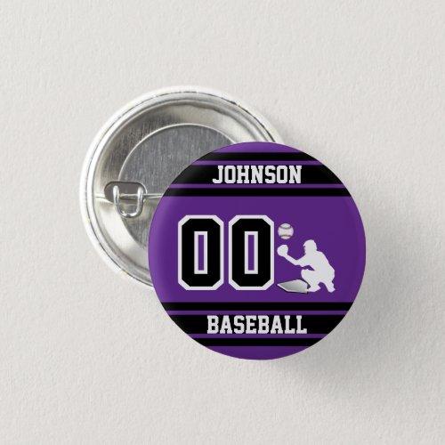 Sport Baseball _ Catcher _ Purple Button