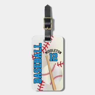 Sport Baseball | DIY Text - Blue Bag Tag
