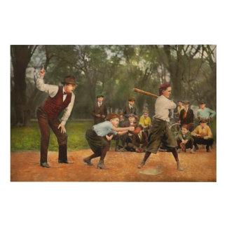 Sport - Baseball - Strike one 1921 Wood Wall Art