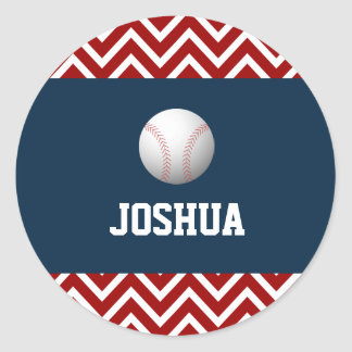 Sport baseball theme boy birthday sticker