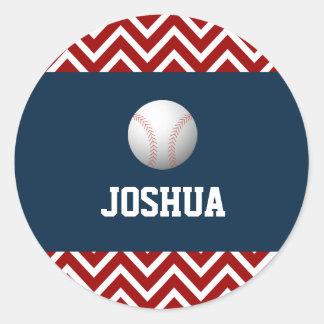 Sport baseball theme boy birthday sticker