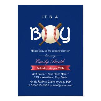 Sport Baseball Theme It's a Boy Baby Shower Card