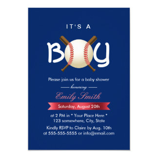 sport baseball theme itu0027s a boy baby shower card