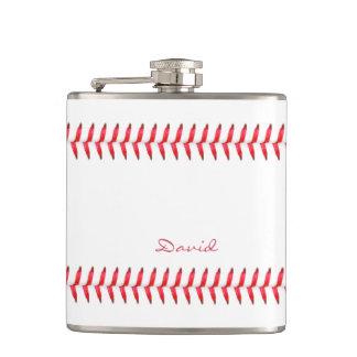 Sport Baseball Themed Stitched Custom Name Flask