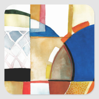 """Sport Basketball Abstract Graphic """"The Hoop Feel"""" Square Sticker"""