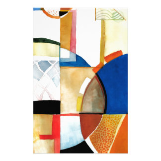 """Sport Basketball Abstract Graphic """"The Hoop Feel"""" Custom Stationery"""