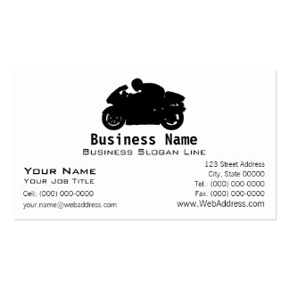 Sport Bike Motorcycle Business Card