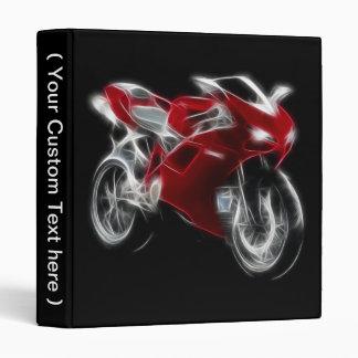 Sport Bike Racing Motorcycle Binder