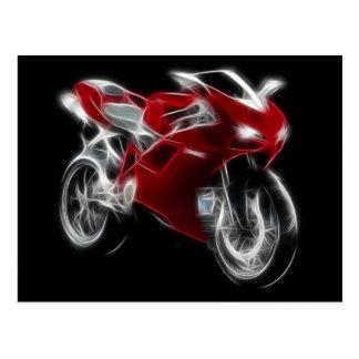 Sport Bike Racing Motorcycle Postcard