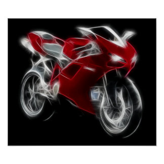 Sport Bike Racing Motorcycle Poster