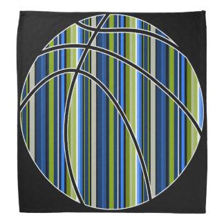 Sport blue green stripe basketball bandana