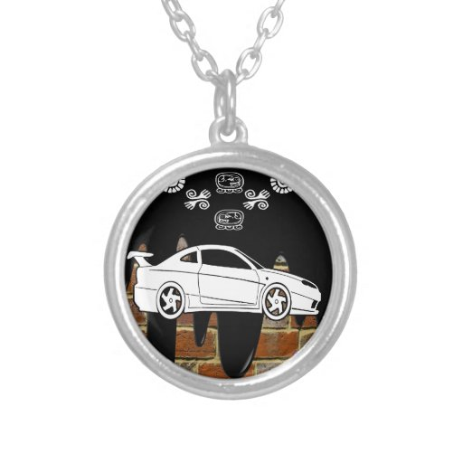 SPORT CAR BRICK BACKGROUND PRODUCTS CUSTOM NECKLACE