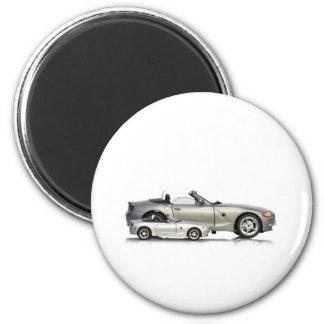 Sport Car Design Round Magnet