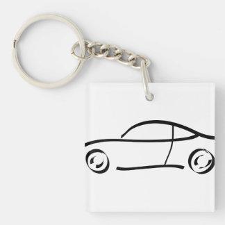 sport car keychain