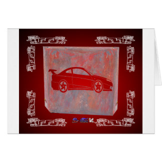 SPORT CAR RED CUSTOMIZABLE PRODUCTS CARD