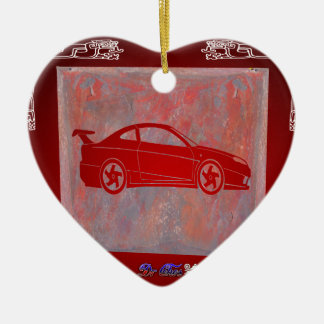 SPORT CAR RED CUSTOMIZABLE PRODUCTS CERAMIC ORNAMENT