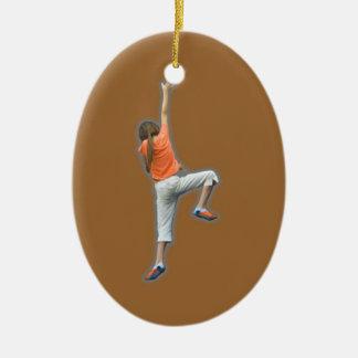 Sport Climbing Ceramic Ornament