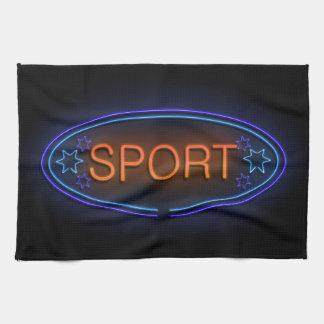 Sport concept. hand towel