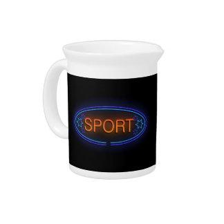 Sport concept. pitcher