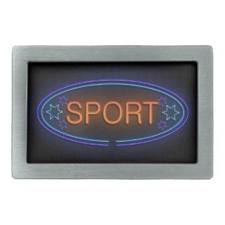 Sport concept. rectangular belt buckle