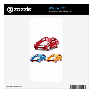 Sport coupe vector decals for the iPhone 4S