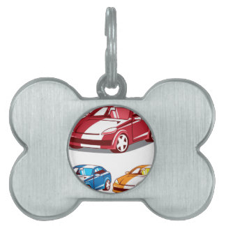 Sport coupe vector pet tag