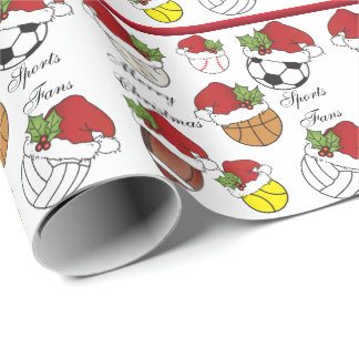 Sport Fans Christmas | DIY Text Wrapping Paper