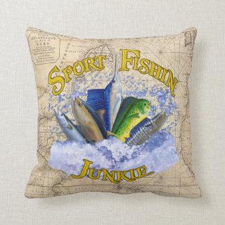 Sport Fishin Junkie Pillow