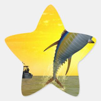Sport Fishing at Dawn Star Sticker