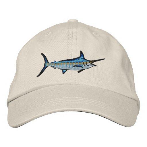 Sport Fishing Blue Marlin Embroidery Embroidered Baseball Cap ... 66937de9803b