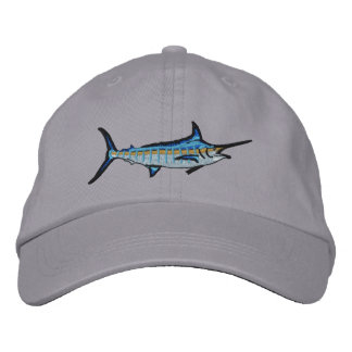 Sport Fishing Blue Marlin Embroidery Embroidered Baseball Hat