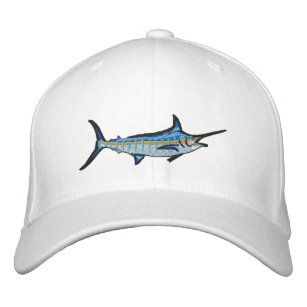 Sport Fishing Blue Marlin Embroidery Embroidered Baseball Hat 7d111ca9d4f7