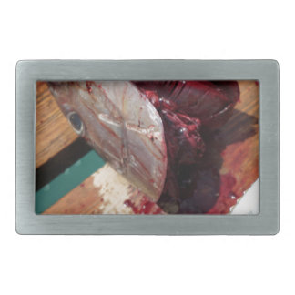 sport fishing rectangular belt buckle