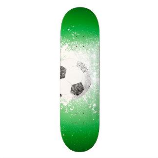 Sport, flying soccer with powder skateboard deck