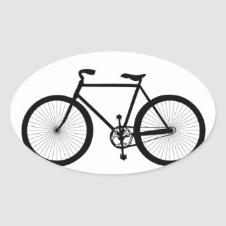 Sport, Hobby, Fun, Ride Bicycle Oval Sticker
