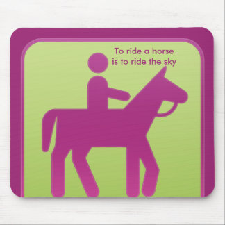 sport horse riding mouse pad