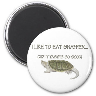 Sport & Hunting Snapping Turtle Fishing Eating Fridge Magnets