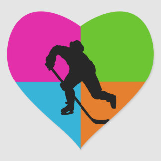 sport - ice hockey heart sticker