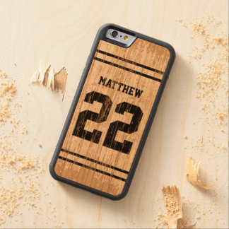 Sport Jersey Number Wood iPhone 6 Carved® Cherry iPhone 6 Bumper