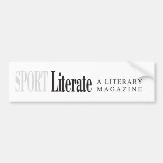 Sport Literate Bumper Sticker