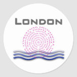 Sport London Round Stickers