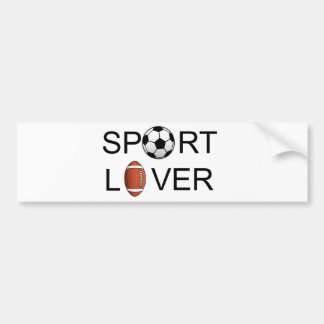 Sport Lover Bumper Sticker Car Bumper Sticker